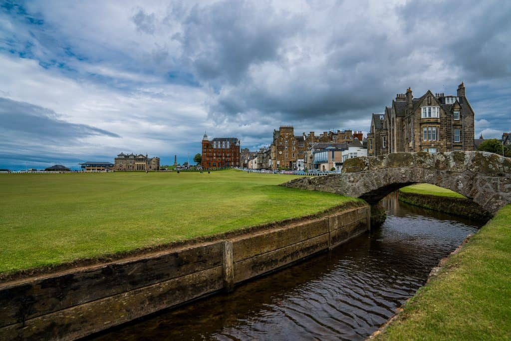 The Old Course at St. Andrews, a perfect spot for a golf trip for guys