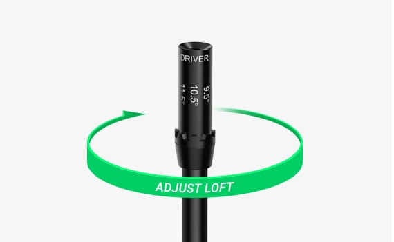 diagram showing loft adjustability on golf driver for beginners
